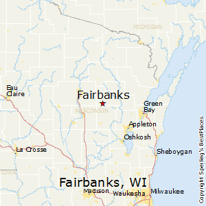 Fairbanks,Wisconsin Map