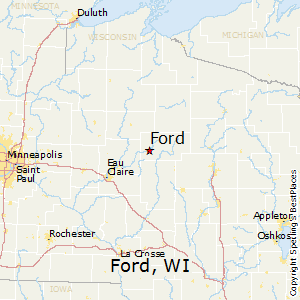 Ford,Wisconsin Map
