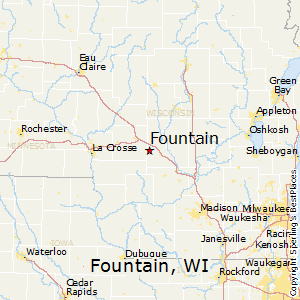 Fountain,Wisconsin Map