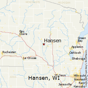 Hansen,Wisconsin Map