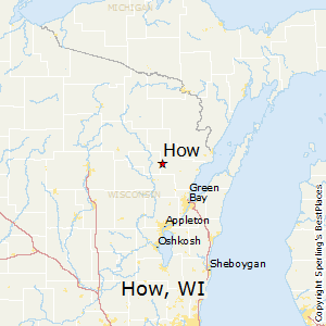 How,Wisconsin Map