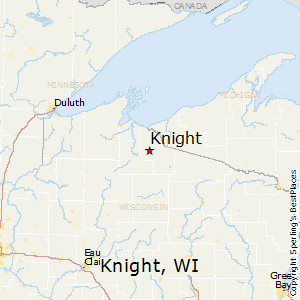 Knight,Wisconsin Map