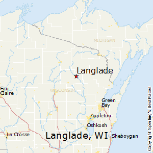 Langlade,Wisconsin Map