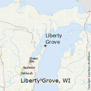 Liberty_Grove,Wisconsin Map