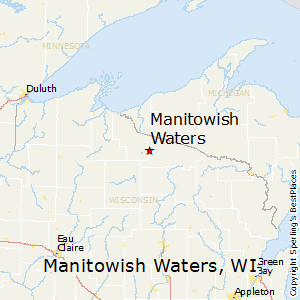 Manitowish_Waters,Wisconsin Map