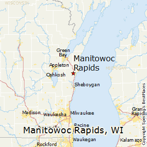 Manitowoc_Rapids,Wisconsin Map