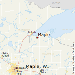 Maple,Wisconsin Map