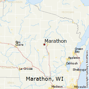 Marathon,Wisconsin Map