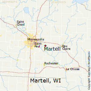 Martell,Wisconsin Map