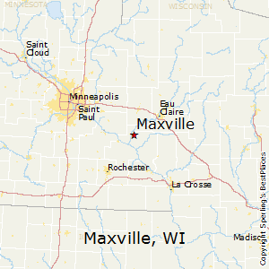 Maxville,Wisconsin Map