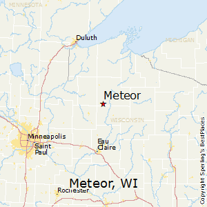Meteor,Wisconsin Map