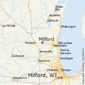 Milford,Wisconsin Map