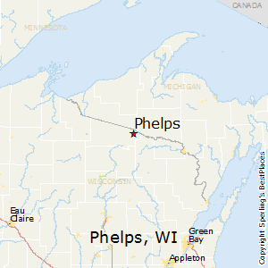 Phelps,Wisconsin Map