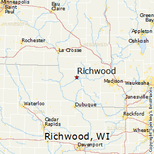 Richwood,Wisconsin Map