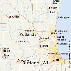 Rutland,Wisconsin Map