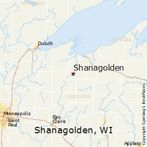 Shanagolden,Wisconsin Map
