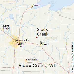 Sioux_Creek,Wisconsin Map