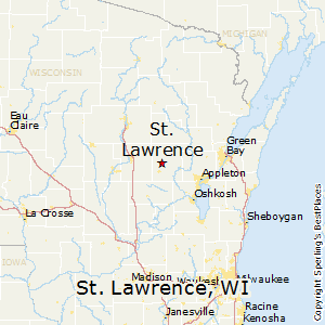 St_Lawrence,Wisconsin Map