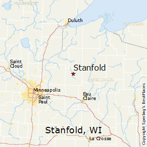 Stanfold,Wisconsin Map