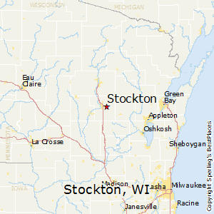 Stockton,Wisconsin Map