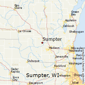 Sumpter,Wisconsin Map