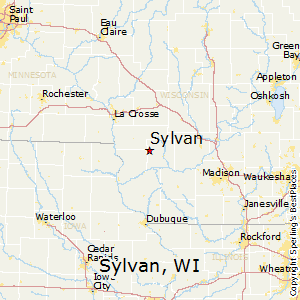 Sylvan,Wisconsin Map