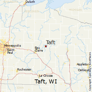 Taft,Wisconsin Map