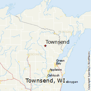 Townsend,Wisconsin Map