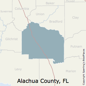Alachua,Florida County Map