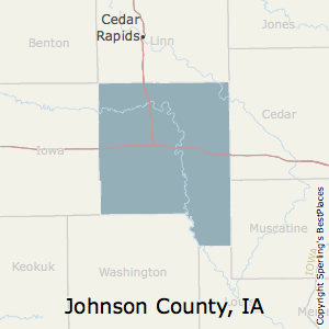 Johnson,Iowa County Map