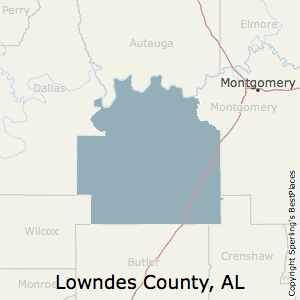 Lowndes,Alabama County Map