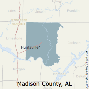 Madison,Alabama County Map