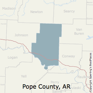 Pope,Arkansas County Map