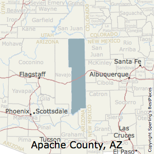 Apache County Arizona Map.Best Places To Live In Apache County Arizona