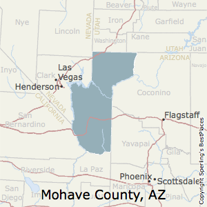 Mohave,Arizona County Map
