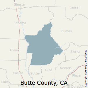 Butte,California County Map