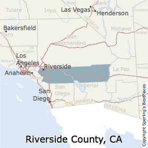 Riverside,California County Map