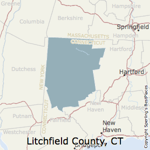 Litchfield,Connecticut County Map