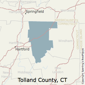Tolland,Connecticut County Map