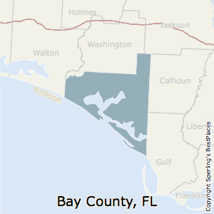 Bay,Florida County Map