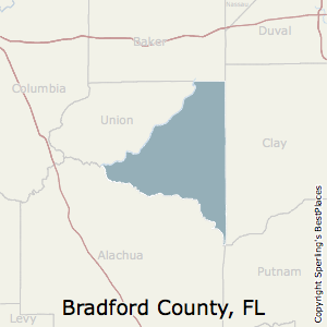 Bradford,Florida County Map