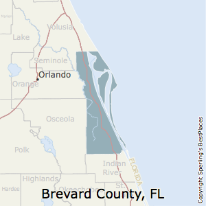 Brevard County Florida Map.Best Places To Live In Brevard County Florida