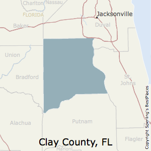 Clay,Florida County Map