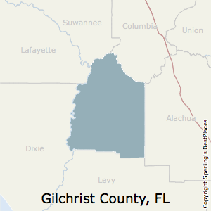 Gilchrist,Florida County Map