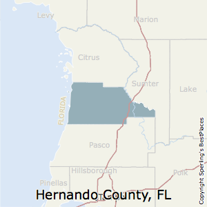 Hernando,Florida County Map