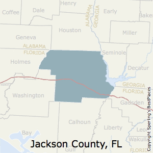 Jackson,Florida County Map