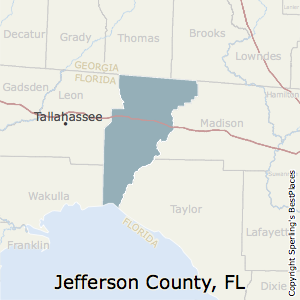 Jefferson,Florida County Map