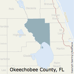 Okeechobee,Florida County Map