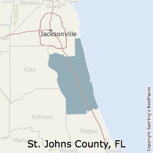 St._Johns,Florida County Map