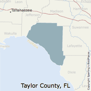 Taylor,Florida County Map